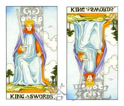 塔罗牌宝剑国王